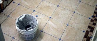 Клей для керамической плитки: виды, расход, особенности